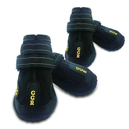 Union Rich Pet Boots 4 Pcs Outdoor Waterproof and...
