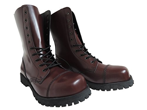Boots \u0026 Braces England Men´s 10 Eye Oxblood Steel Toe