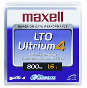 Maxell 183906 5-Pack LTO Ultrium 4 Tape Cartridge LTO-4 800GB (Native) / 1.6TB 120 Transfer Rate from Maxell