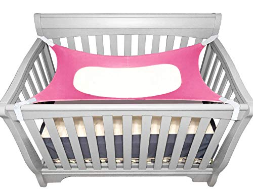 Itomoro Baby Hammock Crib Wombs for Bassinet Infant Newborn,Enhanced Material,Double-Layer Breathable Supportive Mesh Metal Buckle Hammocks Bed Rosered