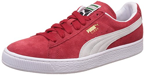 Puma Red White Suede Classic Eco Red White Mens Trainers 12 US