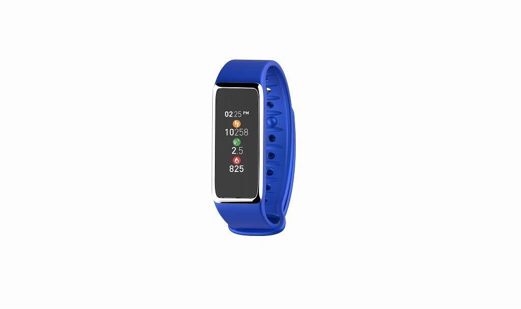 MyKronoz KRZEFIT3HR-BLUE/SILVER Pulsera de Actividad y sueño con pulsómetro y notificaciones, Unisex, Azul, Universal