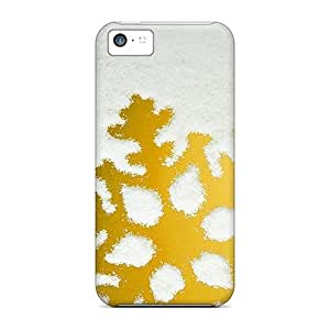 Defender Case For Iphone 5c, Golden Snowflake Pattern