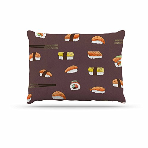 KESS InHouse Strawberringo ''Sushi Pattern'' Orange Brown Dog Bed, 30'' x 40'' by Kess InHouse