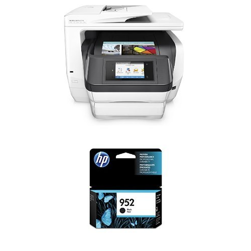 HP OfficeJet Pro 8740 Wireless All-in-One Photo Printer with Mobile Printing, Instant Ink ready (K7S42A) and HP 952 Black Original Ink Cartridge (F6U15AN) Bundle