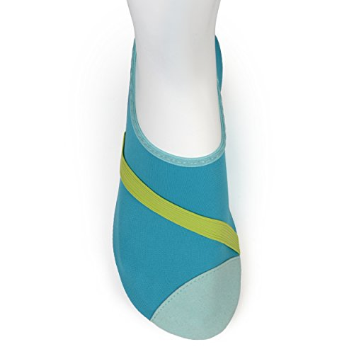 Flexible Shoes shoes Fitkicks Balet Flats Travel Turquoise Yoga Water Green PppTqwdH