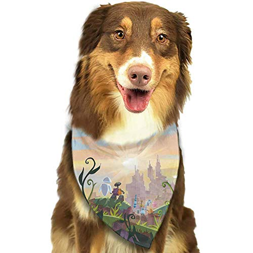 Custom Made Dog Bandana,Pet Costume Accessories-Disney Eve Wall e and Pattern Printing Colorful]()
