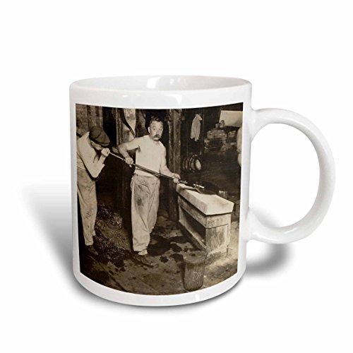 3dRose Scenes from the Past Magic Lantern Slides - Vintage Glass Blowers in New Jersey - 11oz Mug (mug_269858_1)
