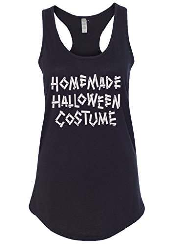 [Mixtbrand Women's Homemade Halloween Costume Racerback Tank Top XL Black] (Homemade Cotton Candy Halloween Costumes)