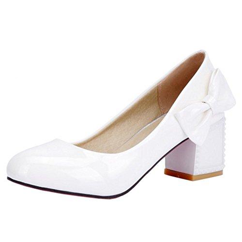 Coolcept Mujer Oficina Sin Cordones Bombas Zapatos White