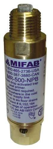 MIFAB MR-500 151839 Pressure Drop Activated Trap Seal Primer For Up To 6 Floor Drain Traps with 1/2