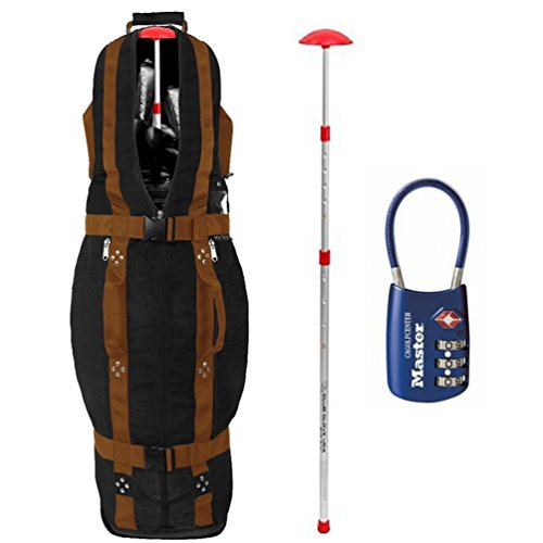 Club Glove Last Bag Collegiate Golf Travel Cover w/ Free Stiff Arm & TSA Lock (Black/Copper)