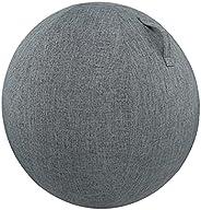 Fesjoy Ball Cover,55cm/65cm/75cm Cotton+Linen Protective Yoga Ball Cover Exercise Ball Protection Skin Wrap Ac