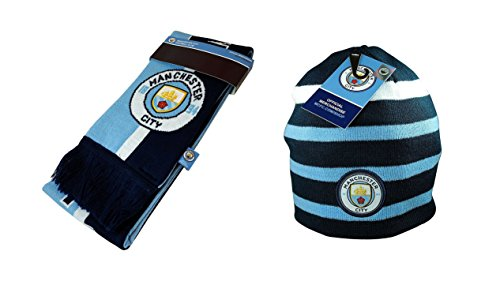 Manchester City C.F. Authentic Official Licensed Soccer Beanie & Scarf Combo - 03-4 by Manchester City C.F.