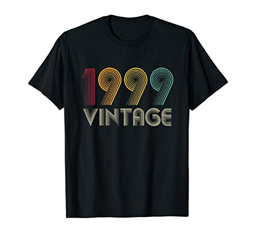 Vintage 1999 TShirt 20th Birthday Gifts 20 Years Old T-Shirt