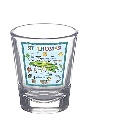 Shot Glass St. Thomas U.S. VIRGIN ISLANDS Souvenir Novelty Collectors Gift Shot Glass