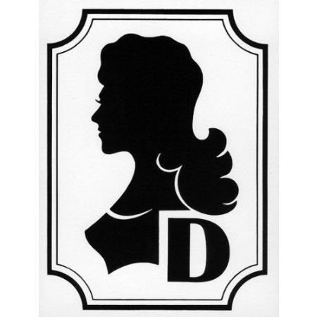 INDIGOS UG - Damen Symbolschilder zur kennz. von Toiletten, Kunststoff 0, 4mm, 12x16 cm