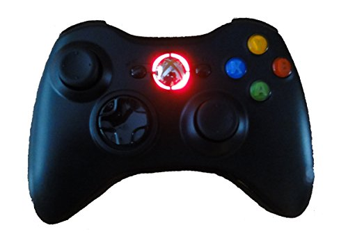 Black Xbox 360 Modded Controller (Rapid Fire, Red LEDs) COD Ghosts, Call of Duty Black Ops 2, MW2, MW3, Halo, GTA..many - 360 Modded Controller Red Xbox