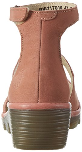 FLYA4|#Fly London Plan717fly, Atado Al Tobillo para Mujer Rosa (Rose/Rose 016)