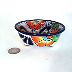 6 Oval Mexican Talavera Soap Dish for the Kitchen or Bathroom to be used for Daily Use and Home Decor