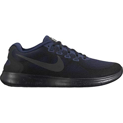 Nike Free RN 2017 Shield Men's Running Shoes, Black/Black-Obsidian Size 13 US