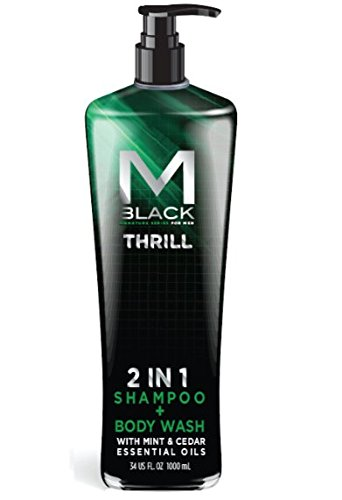 "M.Black Signature Series 2 In 1 Shampoo + Body Wash With Mint & Cedar Essential Oils - Scent: ""Thrill"" -  MB8035C"