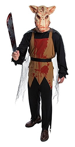 PMG Adult Pig Bloody Butcher Chef Halloween Costume Small