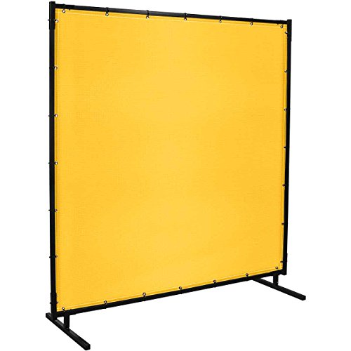 Steiner 529HD-6X10 Protect-O-Screen Hd Welding Screen with 13-Ounce Vinyl Laminated Polyester Curtain, Yellow, 6' x 10'
