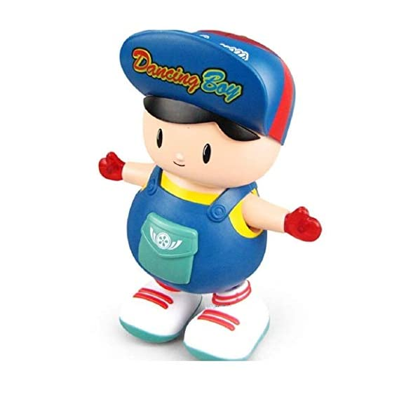 TEC TAVAKKAL Bump and Go Electric Dancing Boy Cute Music Light Toy, Dancing Toy, Battery Operated Toy,Kids Baby Electric Toys with Light and Music