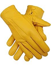 Men's Dress Driving Unlined Genuine Sheep Leather Gloves