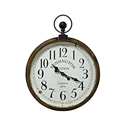 Yosemite Home Decor Kensington Station Pocket Watch Style Wall Clock
