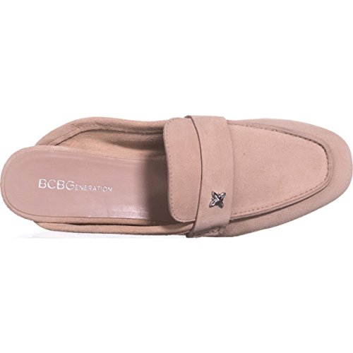 Shell BCBGeneration Sabrina Calf Almond Suede Mules Toe Suede Womens 6AvARqwY