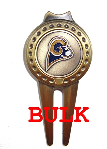 Bulk: 100 Los Angeles (LA) Rams Divot Tools with Golf Ball Markers by Waggle Pro Shop