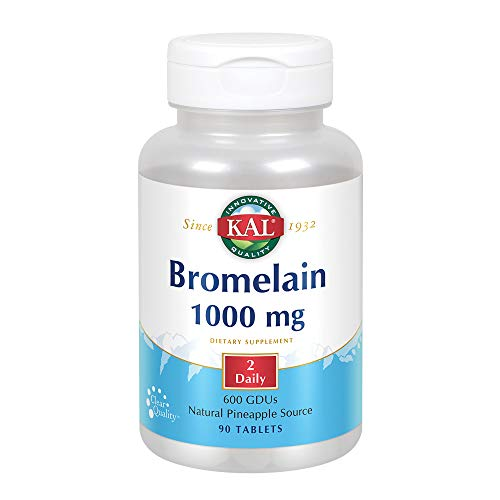 KAL Bromelain Tablets, 1000 mg, 90 Count