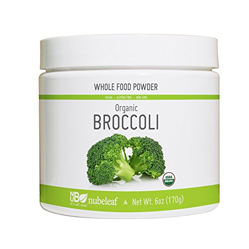 Nubeleaf Broccoli Powder - Non-GMO, Gluten-Free, Raw, Organic, Vegan Source of Essential Vitamins & Minerals - Single-Ingredient Nutrient Rich Superfood for Cooking, Baking, Smoothies (6oz)