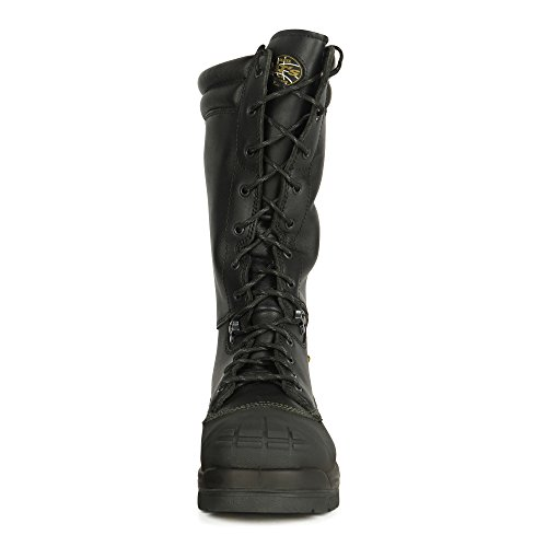 Oliver 65 Series 14'' Leather Puncture-Resistant Waterproof Men's Steel Toe Mining Boots with Metatarsal Guard, Black (65691) by Oliver (Image #2)