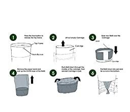 Kiddy Klean Up - 4 Pack Refill - Fits All Dekor Plus Diaper Pails - Diaper Removal System - Can Hold Up to 1100 Diapers - Plastic, Extra Long, Keeps All Odors Away