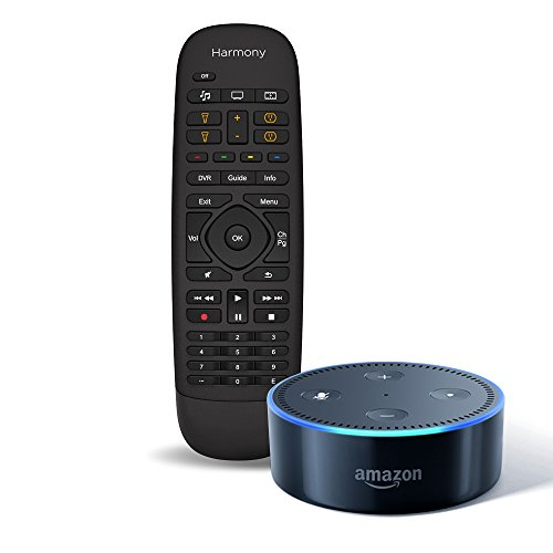Echo Dot (2nd Generation) - Black + Logitech Harmony Companion