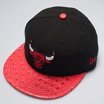 New Era 59FIFTY Chicago Bulls Avestruz Negro Ajustable Visera ...