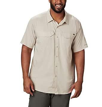 Columbia Men's Silver Ridge Lite Short Sleeve Shirt, Fossil, Small