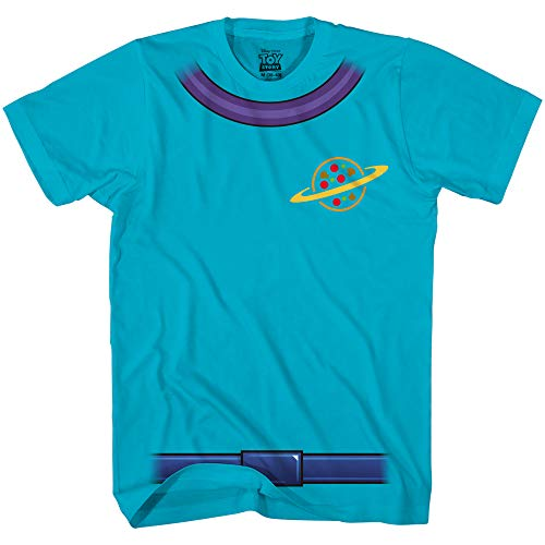 Disney Toy Story Alien Pizza Planet Costume Disneyland Adult T-Shirt(Turquoise,X-Large)]()