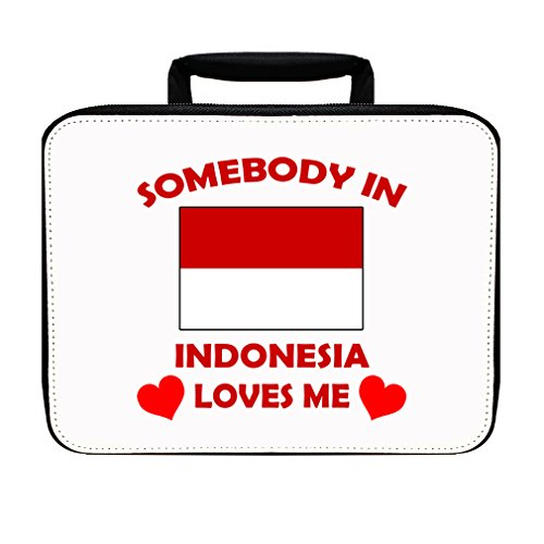 Somebody In Indonesia Loves Me Insulated Lunch Box Bag by Style in Print