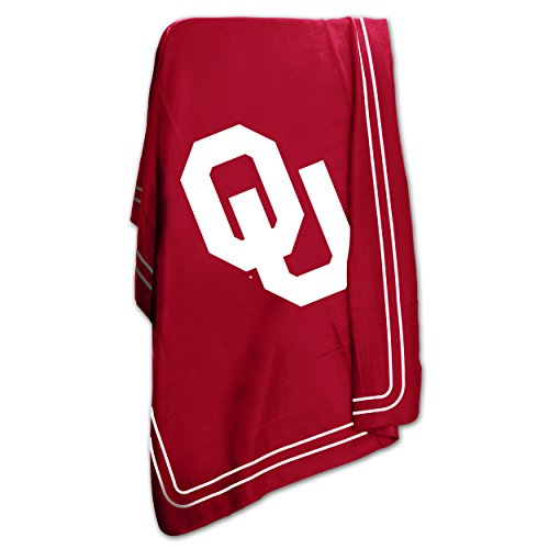 Oklahoma University Sooners OU Fleece Throw Blanket (Oklahoma University State Comforter)