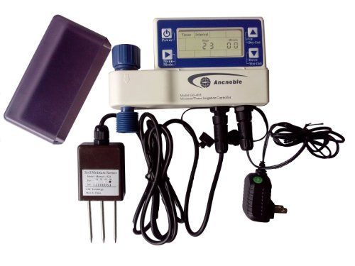 Ancnoble GG-005C-2 Irrigation Controller with Moisture Sensor Powered by AC Adaptor, 9.5 by 3 by 7-Inch, White and ()