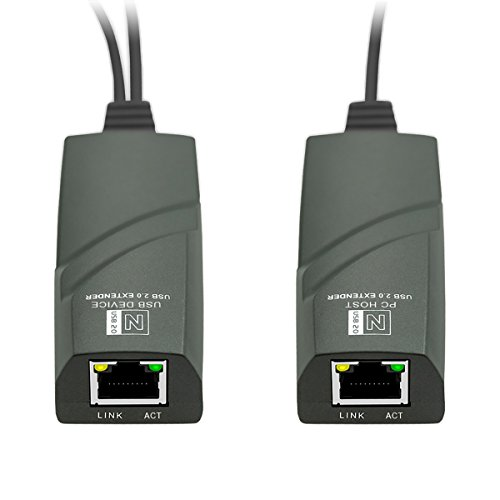 DriverFree 50-Meter USB Ranger - USB 2.0 Network Extender Over RJ45 Ethernet IP Cat5 / Cat6 / Cat7 - Connect USB 2.0 Devices 50Meter Away From Computer (Support Windows 10 / MacOS 10.12 / Ubuntu) by SH-US-NT50 (Image #1)