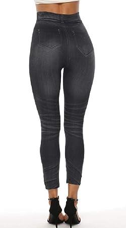 H&E Pantalones de chándal Ajustados con Cintura Alta para Mujer