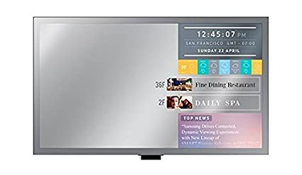 SAMSUNG ML55E 139,7cm 55Zoll Mirror Display 400cd Speakers DVI HDMI DP 1.2 in/Out RS232 RJ45 SSSP Gen.3 (8GB) WiFi SBB PC Sup
