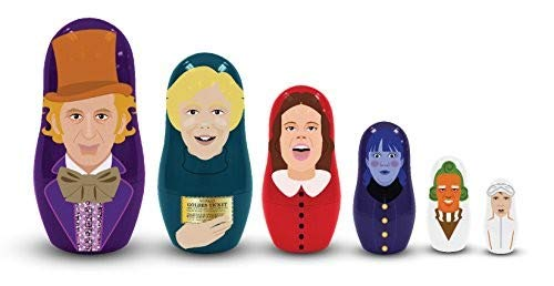 Willy Wonka and The Chocolate Factory Plastic Nesting Dolls