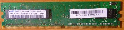 Samsung 512MB DDR2 PC2-4200U 533MHz 1Rx8 M378T6553CZ3-CD5 -