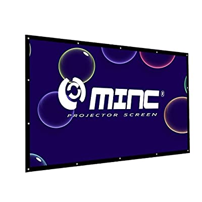 Outdoor Portable Projector Screen 120 Inch 16:9 Home Cinema Movie Screen by MINC